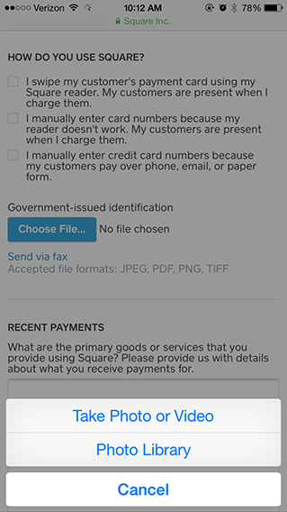 How to upload documentation from mobile for account verification