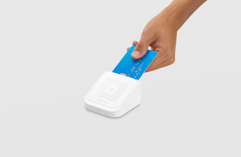 Image of the Dock for the Square contactless and chip + PIN card reader