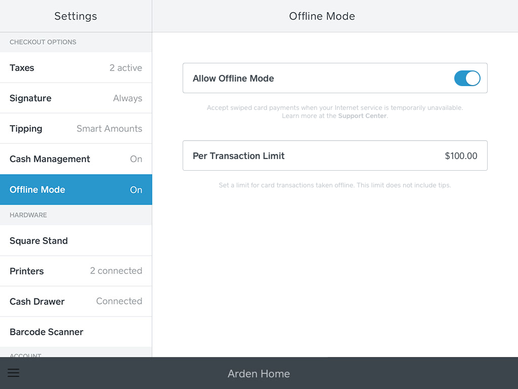 Process Payments with Offline Mode | Square Support Center - US