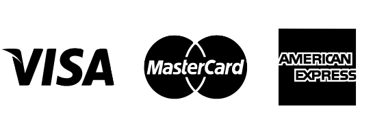 Cards accepted:Visa, Mastercard, American Express